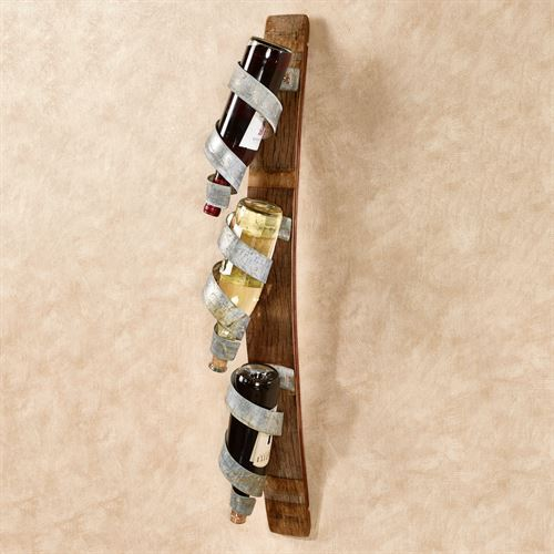 Single Stave Wall Wine Rack Walnut