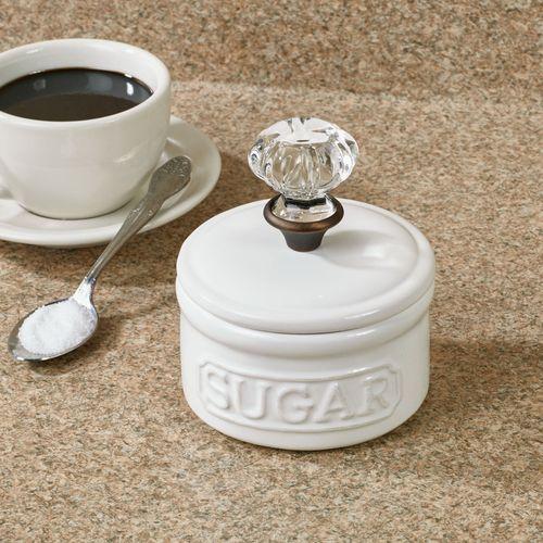 Circa Sugar Bowl with Lid White