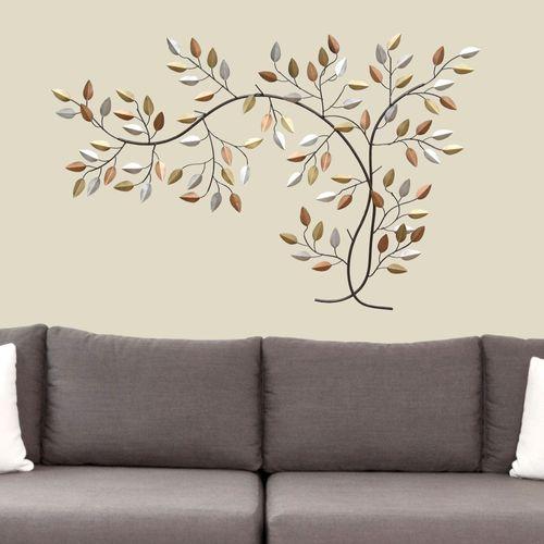 Leaf Branch Wall Art Multi Metallic