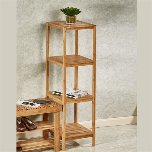 Natural Elements Bamboo Shelf Tower