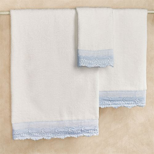 Shelby Bath Towel Set Blue Bath Hand Fingertip