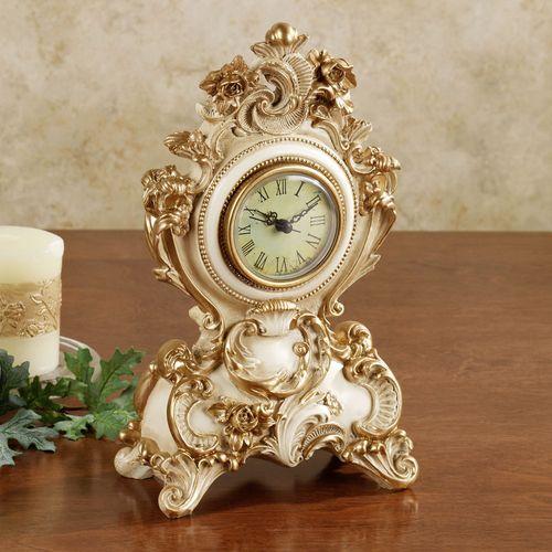 Oliviana Table Clock Ivory/Gold