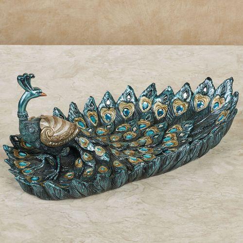 Poppy Peacock Decorative Tray Blue