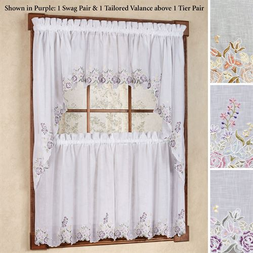 Isabella Embroidered Tier Pair
