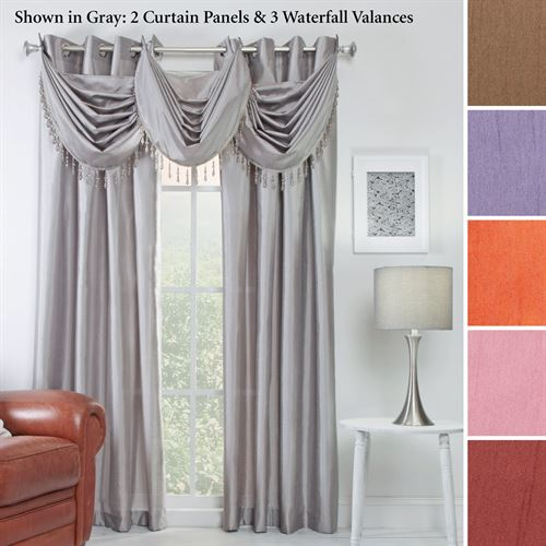 Chelsea Faux Silk Grommet Window Treatment Curtain Panel 56 X 84