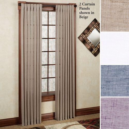Chambray Back Tab Curtain Panel