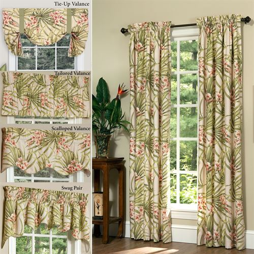 Katia Wide Tailored Curtain Pair Light Cream 100 x 84