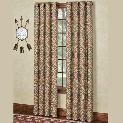 Bandera Wide Grommet Curtain Pair Multi Warm 100 x 84