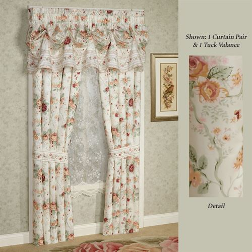 English Rose Floral Window Treatment