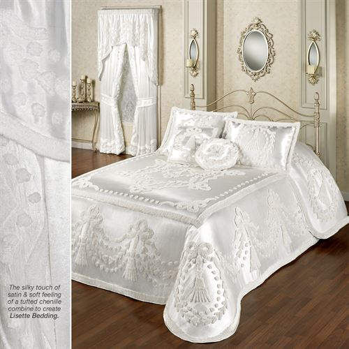 Lisette Grande Bedspread White