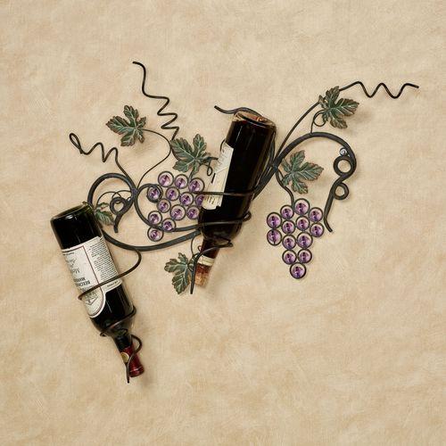 Vining Gems Grape Wall Wine Rack Purple