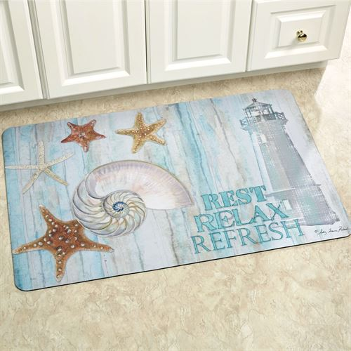 Rest Relax Refresh Comfort Mat Blue 110 x 27