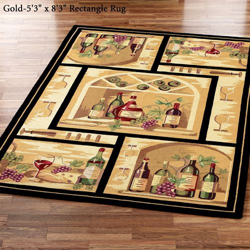 Wine Bottle Area Rugs