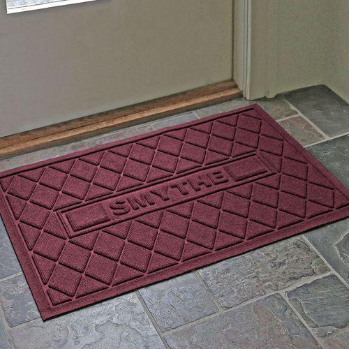 Abalynn Argyle Personalized Doormat 36 x 23