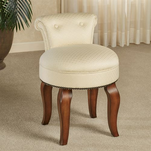 Saraphina Upholstered Vanity Chair Regal Walnut