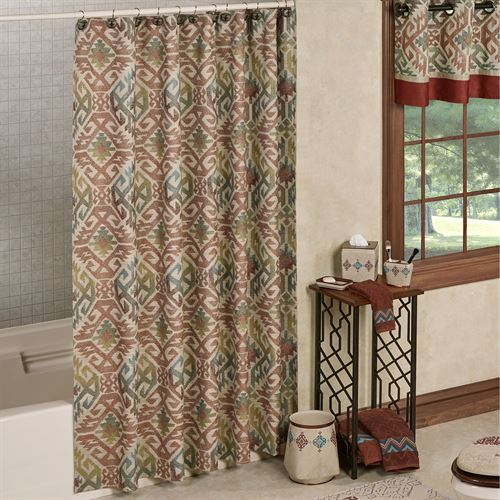 Bandera Shower Curtain Multi Warm 72 X