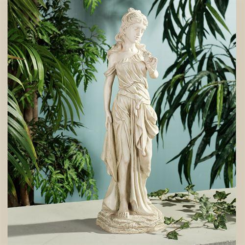 Amalthea Grecian Woman Sculpture Antique Cream Small