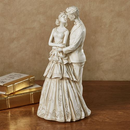 Love of My Life Table Sculpture Ivory