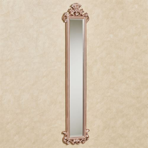 Carolina Scroll Wall Mirror Panel Rose Gold