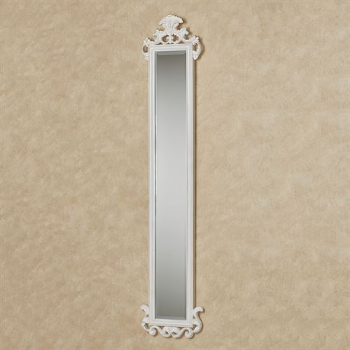 Carolina Scroll Wall Mirror Panel Antique White