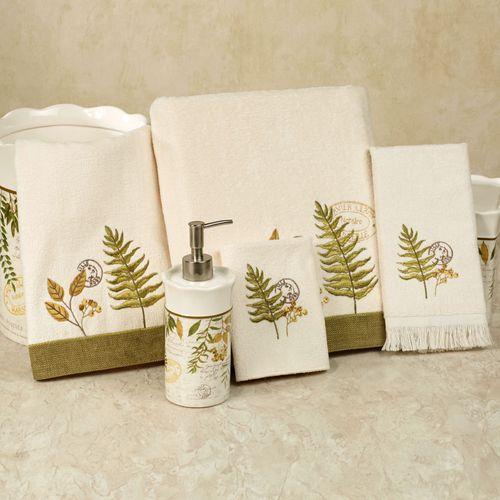 Foliage Garden Bath Towel Set Ivory Bath Hand Fingertip Wash