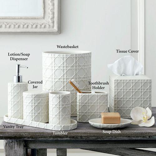 Rattan Lotion Soap Dispenser Ivory
