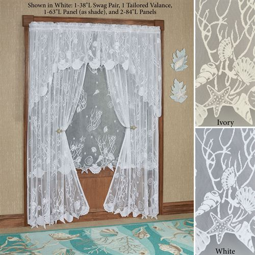 Sea Treasures Lace Curtain Panel