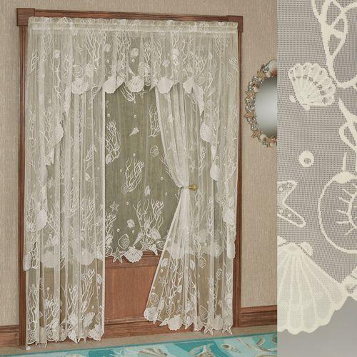 Sea Treasures Lace Curtain Panel