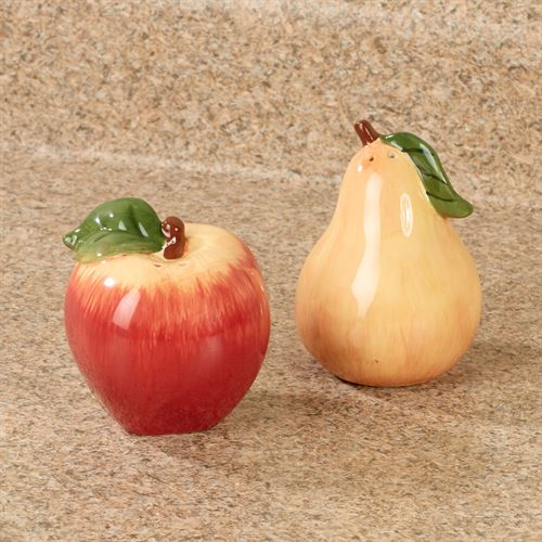Capri Fruit Salt and Pepper Shakers Multi Earth Set of Two