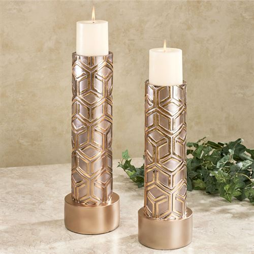 Declan Candleholders Gold Set of Two