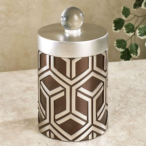 Declan Decorative Covered Jar Silver