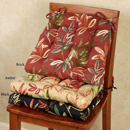 Manilla Tropical Indoor Outdoor Chair Cushion Set