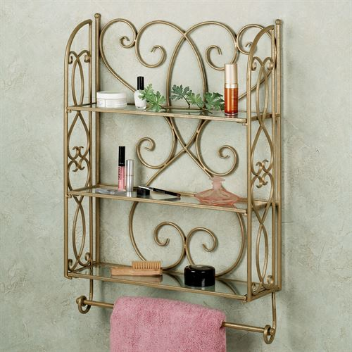 Gianna Wall Shelf with Towel Bar