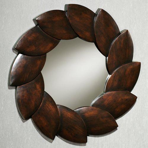Ovalis Leaf Wall Mirror Espresso