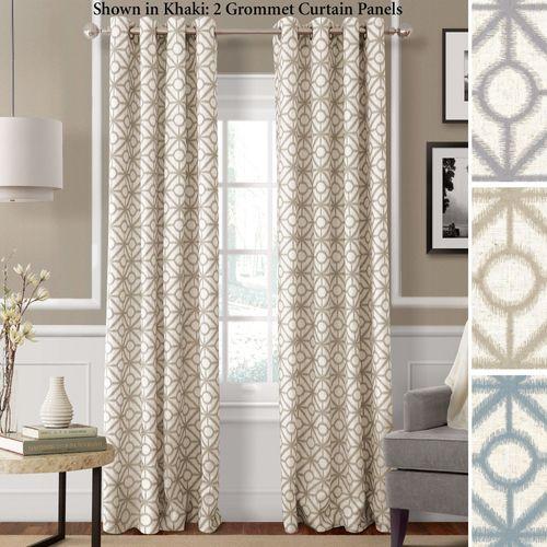 Crackle Grommet Curtain Panel