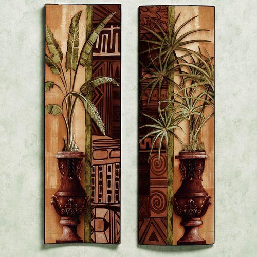 Tropical Palms Wall Panel