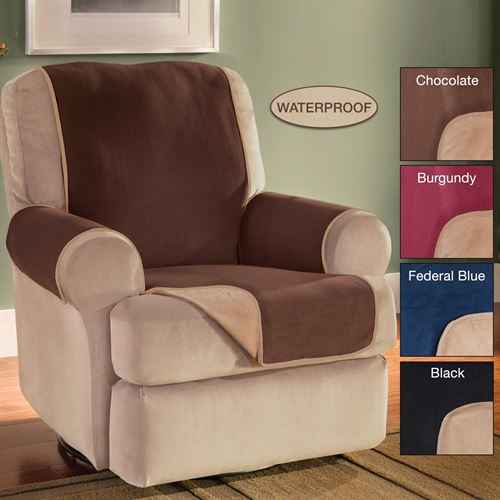 Reversible Fleece Furniture Cover Recliner/Wing Chair