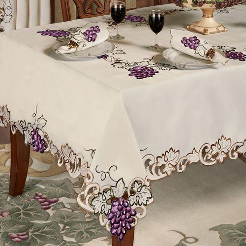Cabernet Oblong Tablecloth Light Cream