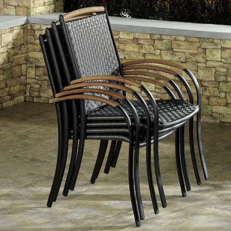 Estes Patio Chairs Charcoal Set of Four