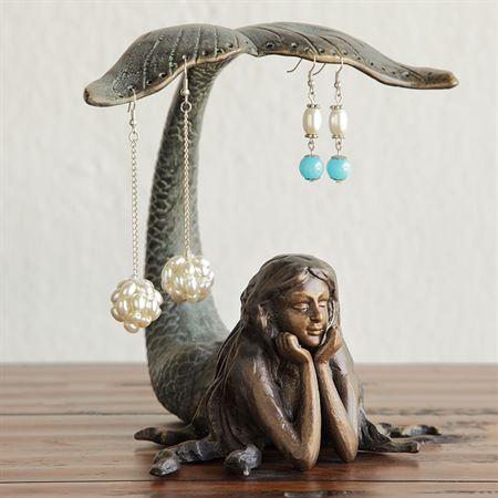 Mermaid Earring Holder Verdi Bronze