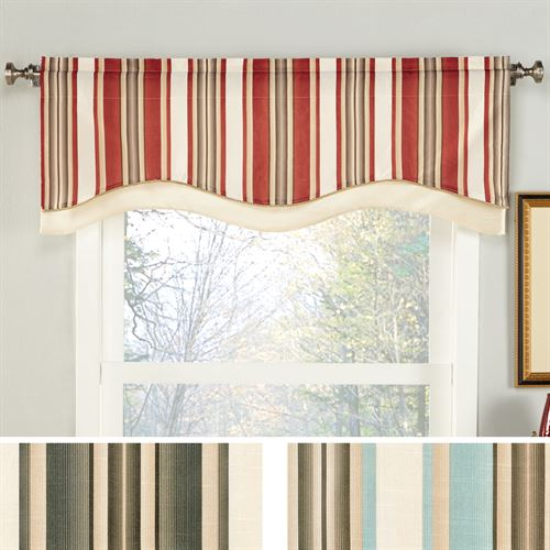 Maxton Striped Shaped Window Valance