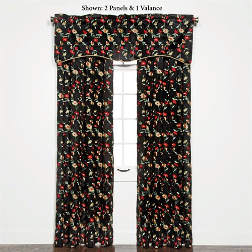 Wisteria Grommet Curtain Panel Onyx 54 x 84