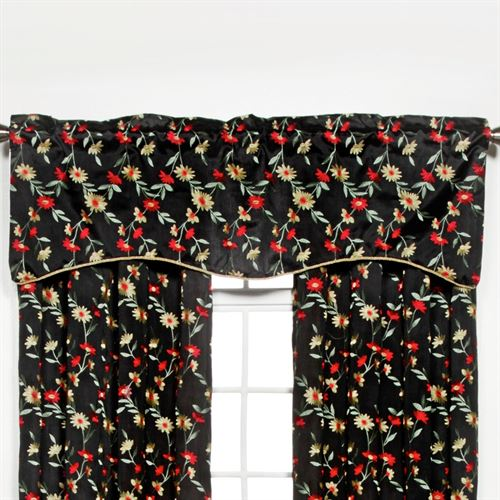 Wisteria Shaped Valance Onyx 52 x 17