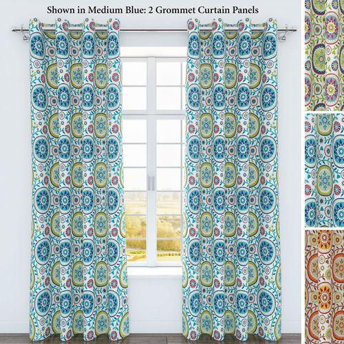 Iris Grommet Curtain Panel 54 x 84