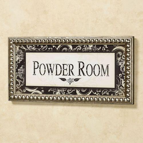 Powder Room Framed Wall Art Ivory Black