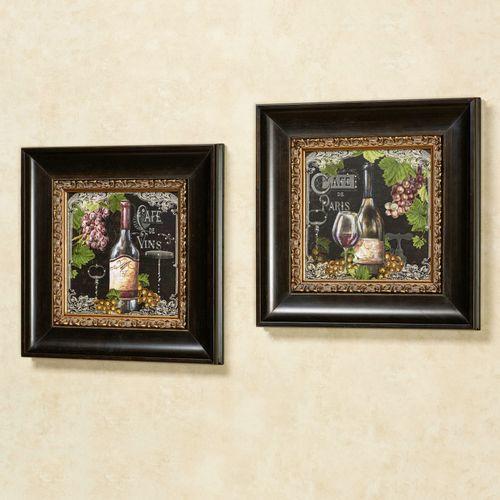 Cafe de Paris Framed Wall Art Multi Warm Set of Two