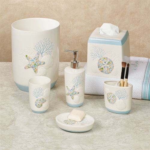 Seaside Blossoms Lotion Soap Dispenser Multi Pastel
