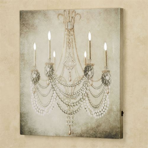 Vintage chandelier led lighted canvas art vintage chandelier led canvas wall art oyster aloadofball Choice Image