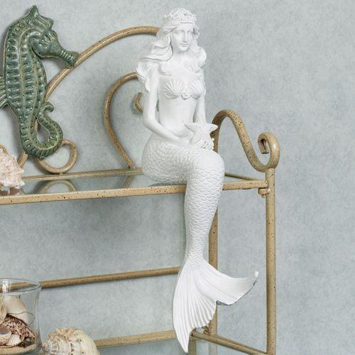 Starfish Mermaid Shelf Sitter White