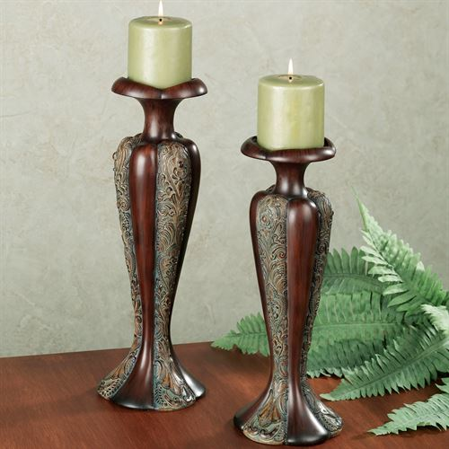 McKee Candleholder Set Brown Set of Two